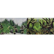 Фон для аквариума двухсторонний Мангровая коряга/Подводный рельеф 30х60см (9098/9030)