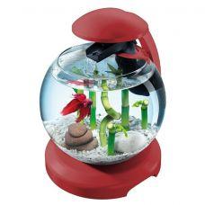 Аквариум Tetra Cascade Globe  6,8л круглый с LED светильником, бордовый