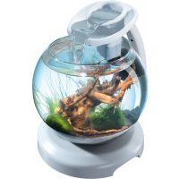 Аквариум Tetra Cascade Globe Duo Waterfall  белый 6,8л круглый с LED светильником