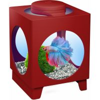 Аквариум Tetra Betta Projector 1,8л бордовый