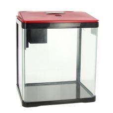 Аквариум PRIME, 7л,  красно-черный, с LED светильником и фильтром