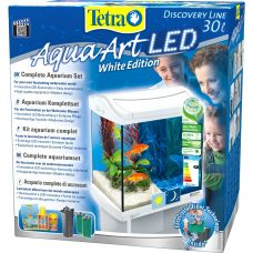 Аквариум Tetra AquaArt LED Goldfish 30л белый 39х27,5х42см