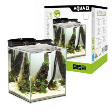 AQUAEL Аквариум Shrimp Set DUO LED/49л черный, 35х35х40см.