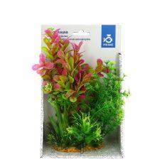 Композиция из пластиковых растений 20см №1
