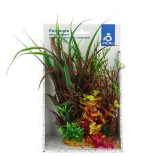 Композиция из пластиковых растений 20см №2