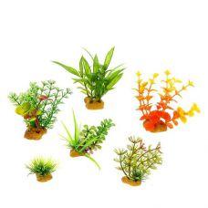 Набор пластиковых растений PRIME 6шт. (№2)
