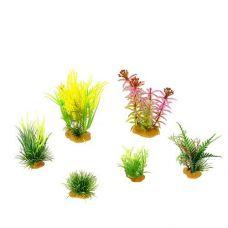 Набор пластиковых растений PRIME 6шт. (№3)
