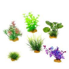 Набор пластиковых растений PRIME 6шт. (№4)