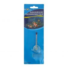 Термометр стеклянный малый на присоске, тонкий