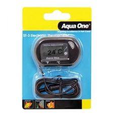 Термометр Aqua One ST 3 LCD Electronic, электронный, внешний с погружным датчиком.