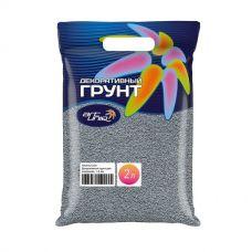 """ArtUniq Color Grey - Декоративный грунт для аквариума """"Серый"""", 1-2 мм, 3 кг, 2 л"""